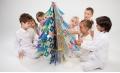 Alberi di Natale in cartone riciclato